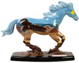 DIFFERENT COLOR Painted Figurine EAGLE Pony Statue SPIRIT WIND