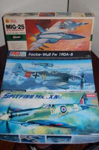 WWII AIRCRAFT SCALE 172 VINTAGE JETS PROPS HASEGAWA ACADEMY