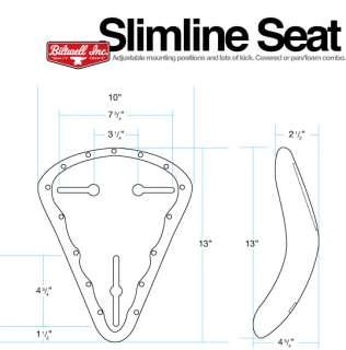 Biltwell Slimline Solo Seat Pan Foam kit bobber chopper