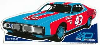 1976 DODGE CHARGER #43 STP CAR NASCAR RACING DECAL STICKER