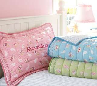 Pottery Barn Kids KARINA QUILT TWIN & 1 EURO SHAM NEW PINK