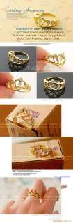 Crown Crystal Flower Charming Ring Model WB2 005 Ship to worldwide