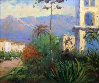Hand Painted Oil Painting Repro Claude Monet Villas in Bordighera