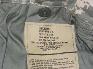 NEW US ARMY ACU FIELD JACKET COAT M65 M,L,XL,XXL w HOOD