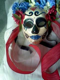 Day of the Dead Sugar Skull mask Dia de los Muertos wall decor papier