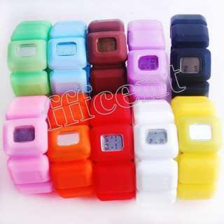 Chocolate Digital Wrist Watch Fashion Lady Girls Gift Bracelet NO