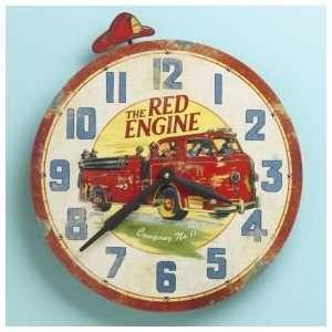 Fire Truck Clock Baby