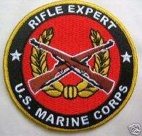 USMC US MARINE CORPS RIFLE EXPERT PATCH MEDAL BADGE