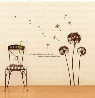 Decorative Wall Paper Art Sticker Home Decal Dandelion