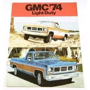 1974 74 GMC TRUCK BROCHURE 1500 2500 Pickup Jimmy