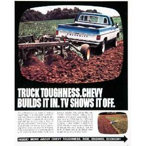 1975 Ad Chevy Chevrolet Pickup Truck Farming Engine Chassis Bonus Cab