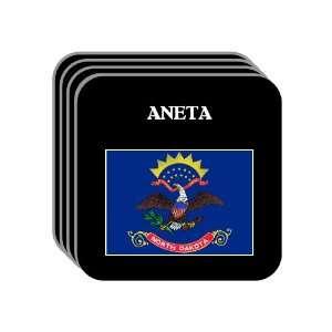 US State Flag   ANETA, North Dakota (ND) Set of 4 Mini