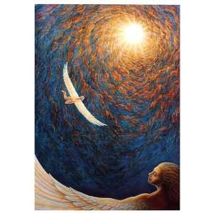 Angels Flight of Icarus Greeting Card by Mark Henson Sacred Light