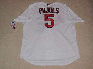 ALBERT PUJOLS SIGNED ST LOUIS CARDINALS MAJESTIC JERSEY NWT MLB