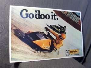 vintage Snowmobile GO DO IT 77.5 ski doo rotax bombardier snopro sled