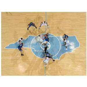 NCAA North Carolina Tar Heels (UNC) 17 x 23 Opening Tip vs. Duke