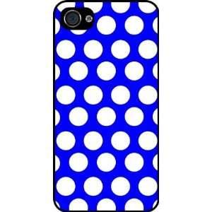 Rikki KnightTM Blue Polka Dots Black Hard Case Cover for Apple iPhone