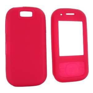 For Samsung Exclaim M550 Rubber Skin Case Rose Pink