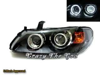 Almera N16 2003 2006 CCFL Angel Eye Dual Projector HEADLIGHT Black T