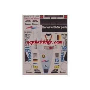 JK   1/32 Bmw V12 Lmr Dell Sticker Sheet (Slot Cars) Toys