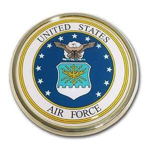 United States Air Force USAF Seal Gold Plated Premium Metal Car Truck