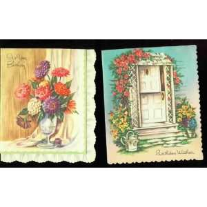 lovely flowered   HAPPY BIRTHDAY cards (unsent)