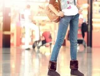 Womens Stretch Velvet Platform mid calf Boots Shoes XLDHG 27