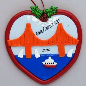 Personalized San Francisco Golden Gate Bridge Ornament