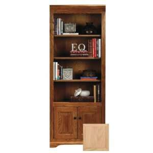 Oak Ridge 72 Open Bookcase with Doors  Unfinished