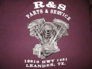 3D EMBLEM WOLF R&S PARTS MOTORCYCLE T Shirt XL biker rose texas
