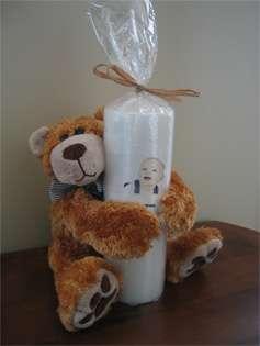 Personalized Custom Baptism & Christening Candle Gift