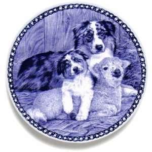 Australian Shepherd Dog & Puppy: Danish Blue Porcelain