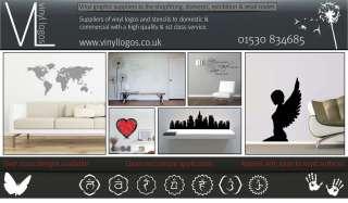 LARGE VINYL WALL ART STICKER/GRAPHIC DECAL   World Map