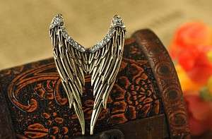 Bronze Crystals Angel Wings Finger Ring Free ship