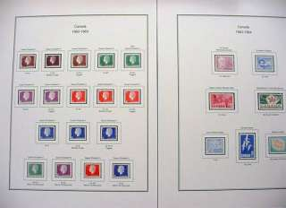 Canada 335 429 Color Stamp Album Pages (Free Shipping)