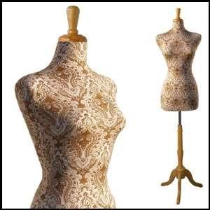 FEMALE DECORATIVE DRESS FORM MANNEQUIN PRINT FABRIC