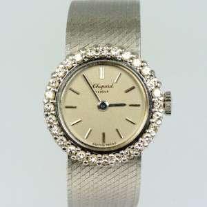 Chopard Diamond set 18ct White Gold Ladies integrated Bracelet Vintage