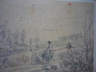 SPRINGTIME 1857 SKETCH DRAWING STUDY ART BARBIZON SCHOOL FRENCH