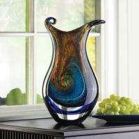 Colorful Glass Vase Asian fire Decorative glass Home Art Decor