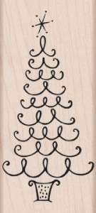 Hero Arts Rubber Stamps FLOURISH CHRISTMAS TREE New