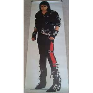 Michael Jackson 25x71 Bad Life Size Door Poster 1987