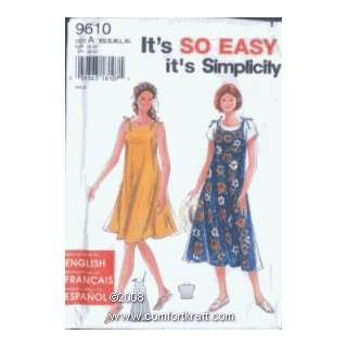 or Jumper and Top, Simplicity 9610 Simplicity Pattern Co Inc Books