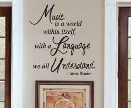 Art Decor Inspirational Quote Decal Music Stevie Wonder IN59