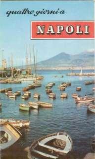 Travel Vacation Brochure Napoli Naples Italy c1959