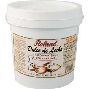 Roland Dulce De Leche For Ice Cream, 12.6 Pound Plastic Tub