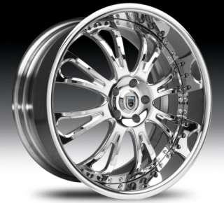 26 Asanti AFC404 Chrome Wheels Rims 3 Piece