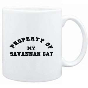 Mug White  PROPERTY OF MY Savannah  Cats