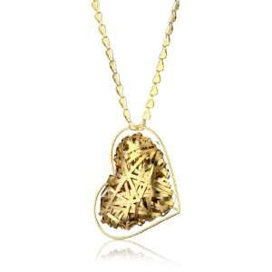 Katch by Kathy Flesch 24k Gold Plated Heart Shaped