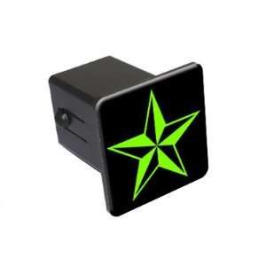 Star   Green   2 Tow Trailer Hitch Cover Plug Insert Truck Pickup RV