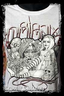 Tribal Gear Streetwear Mouse Doll Tattoo Girls T Shirt
